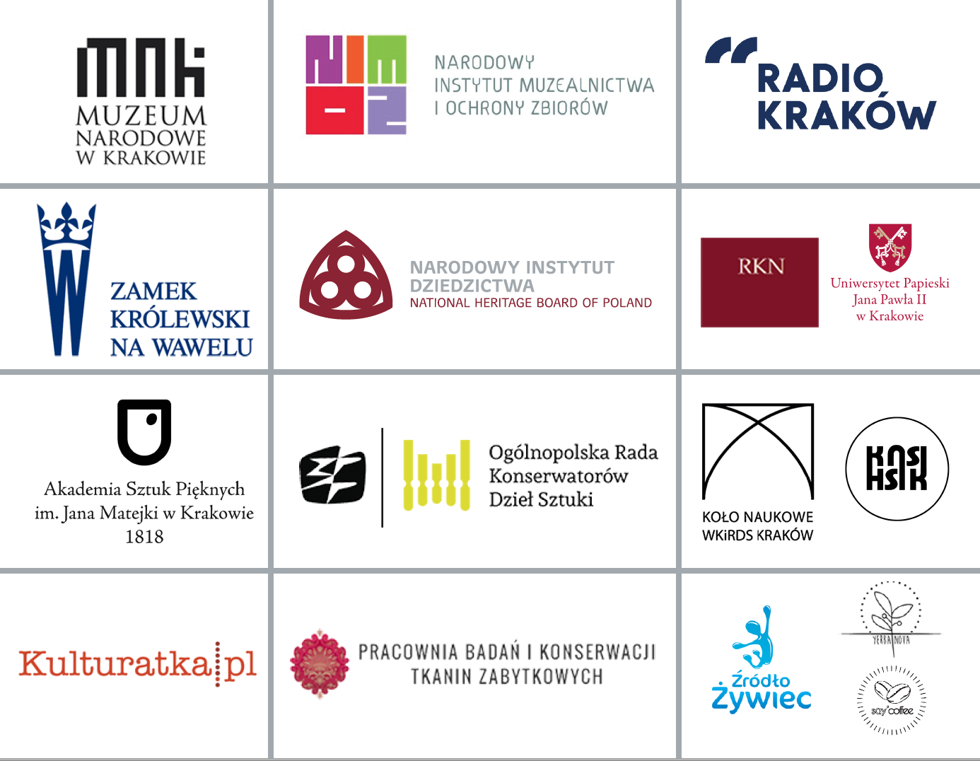 Patroni i sponsorzy wydarzenia